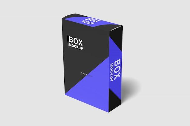 Maquete slim box impressionante Psd Premium