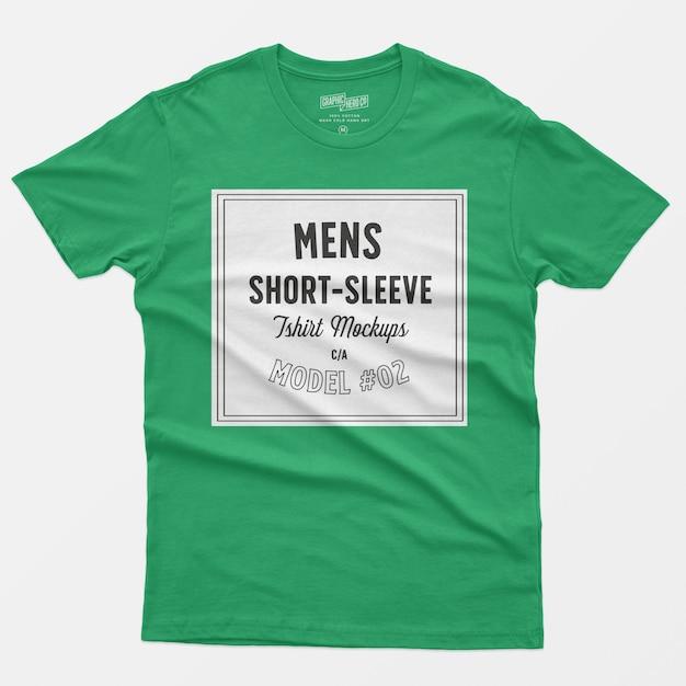 Maquetes de camisetas de manga curta para homem Psd grátis