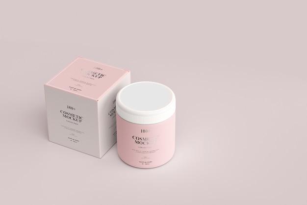 Maquetes de jarros de cosméticos Psd Premium