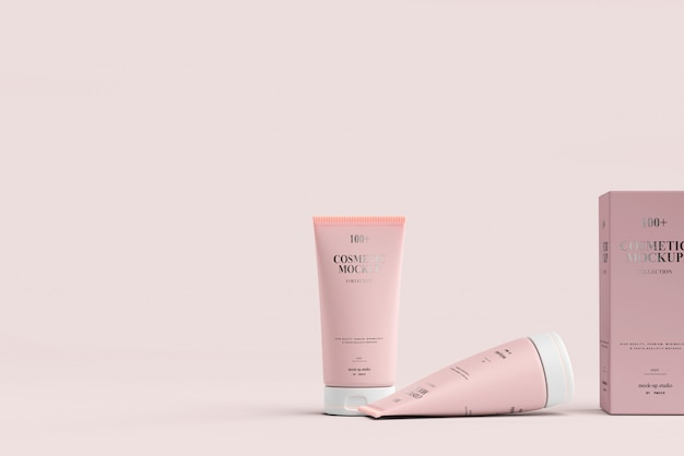 Maquetes de tubos de cosméticos Psd Premium