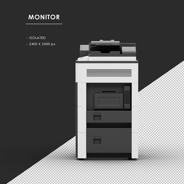 Máquina fotocopiadora isolada a partir da vista esquerda Psd Premium