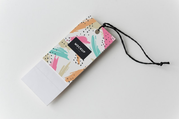 Marcador colorido tags mockup design Psd grátis