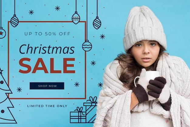 Marketing camapaign com ofertas de natal Psd grátis