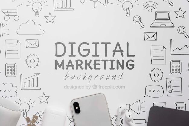 Marketing digital com conexão wifi 5g Psd grátis