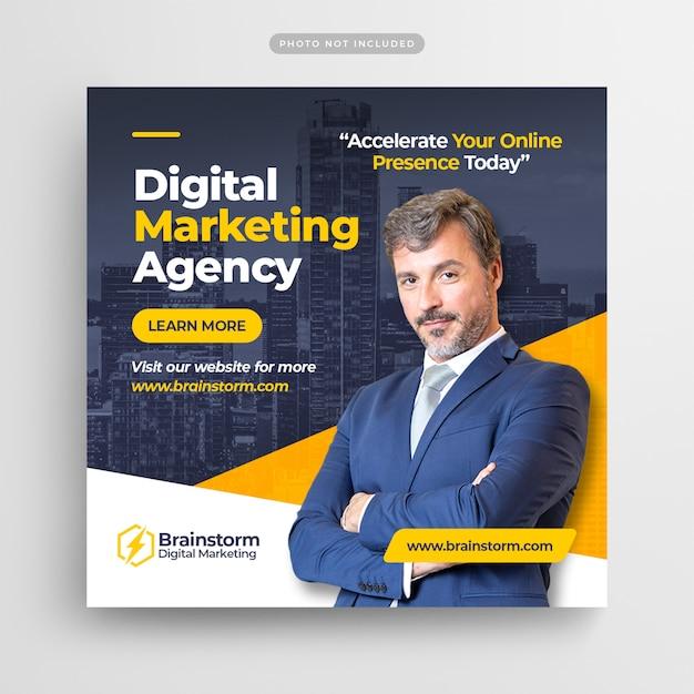 Marketing digital para negócios instagram post Psd Premium
