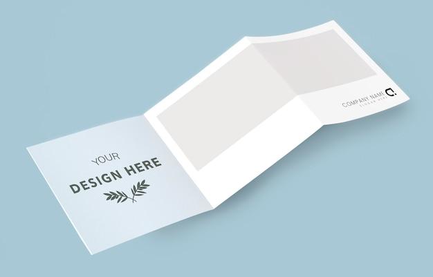 Materiais impressos da maquete do folheto dobrável em três partes Psd grátis
