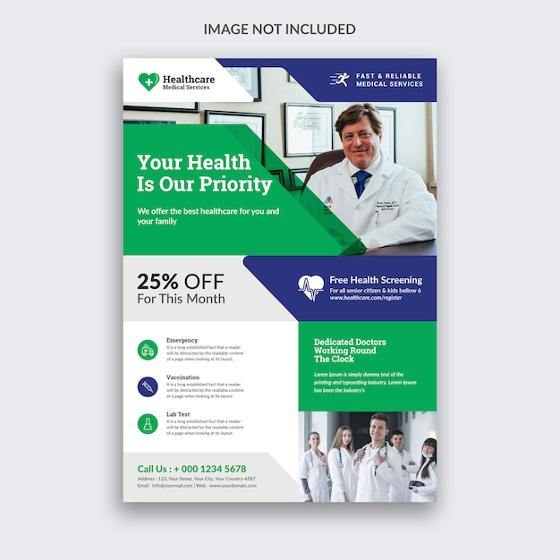 Medical flyer Psd Premium