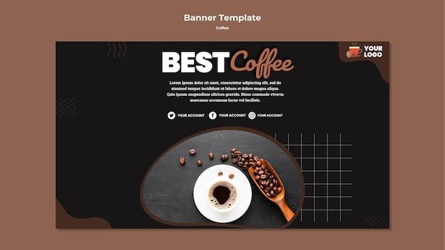 Melhor modelo de banner de café Psd grátis