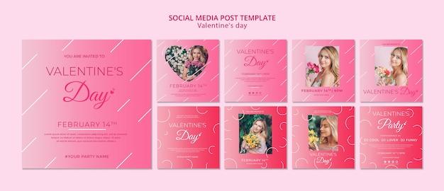 Mídia social post conceito para dia dos namorados modelo Psd grátis