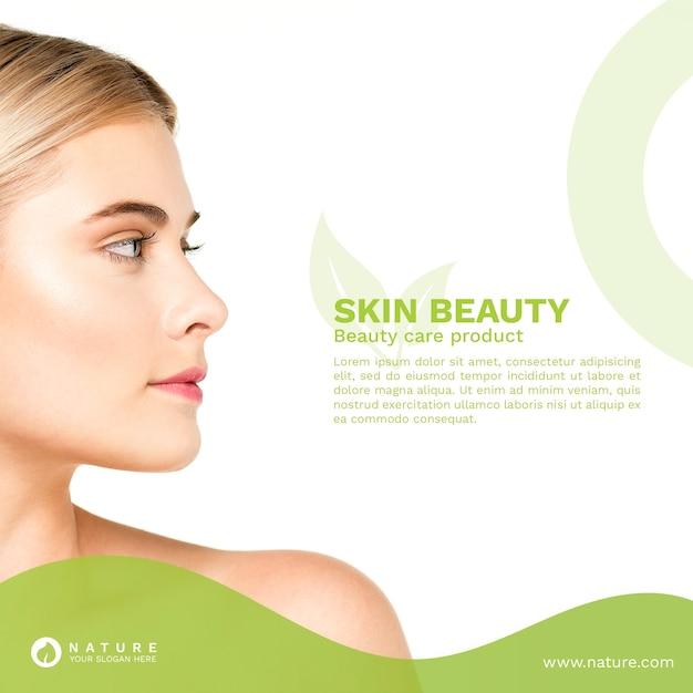 Mídia social postar modelo com conceito de beleza Psd Premium