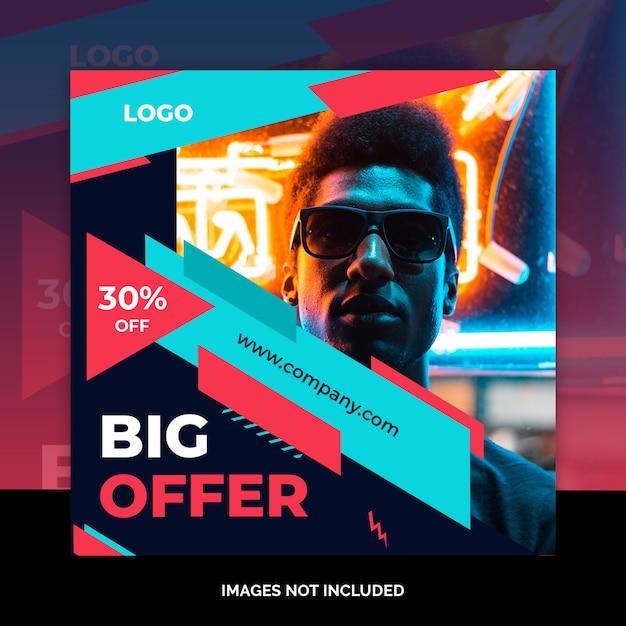 Mídias sociais marketing post design de compras Psd Premium