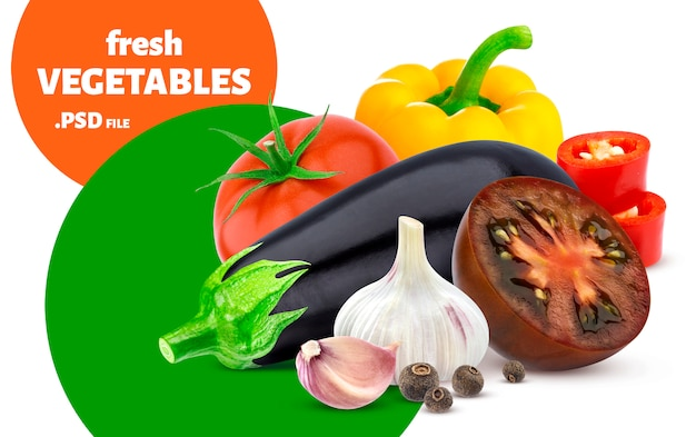 Mistura de banner de legumes Psd Premium