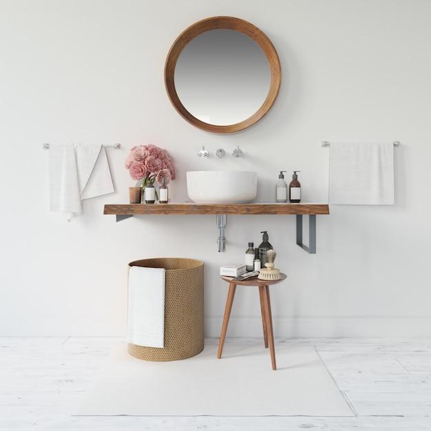 Mobília moderna da sala de banho Psd grátis