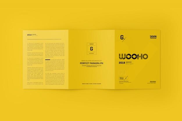Mock-up 3xa4 trifold folheto Psd Premium