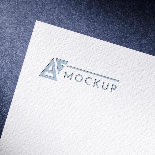 Mock-up cartão de papel comercial com superfície texturizada Psd Premium