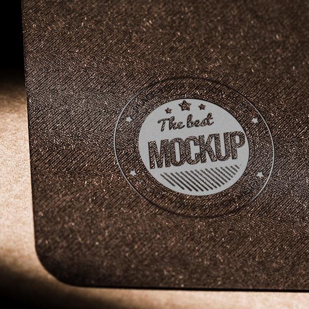 Mock-up cartão de papel comercial com textura Psd grátis