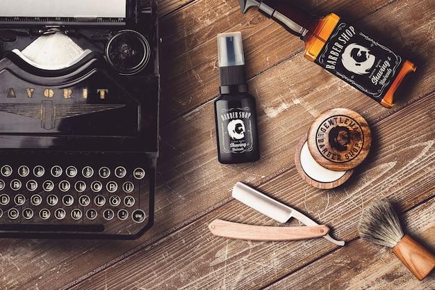 Mock-up de barbearia Psd Premium