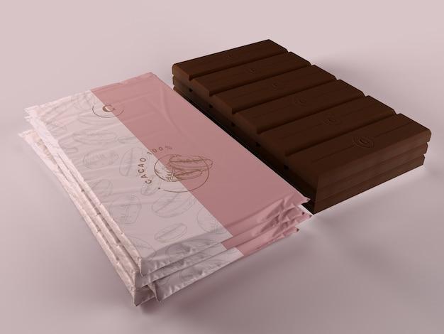 Mock-up de embrulho de chocolate Psd grátis