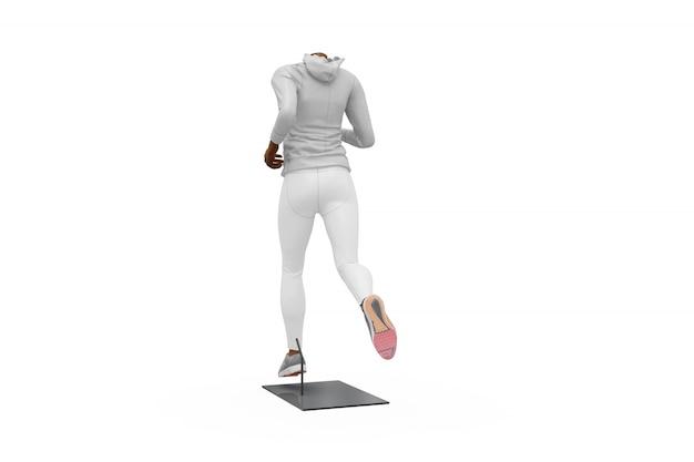 Mock-up de equipamento de desporto feminino isolado Psd grátis