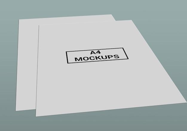 Mock-up de página a4 Psd Premium