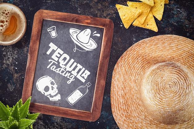 Mock-up de restaurante mexicano Psd grátis
