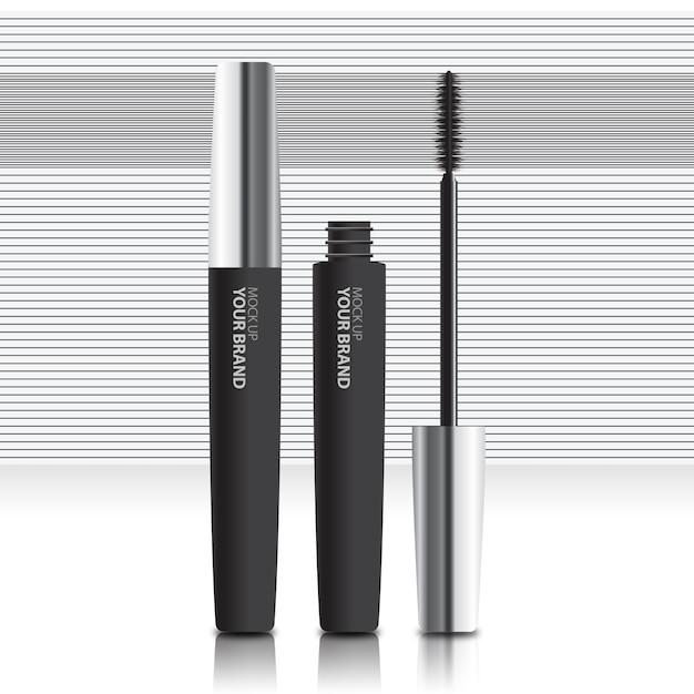 Mock up de rímel cosmético para embalagens Psd Premium