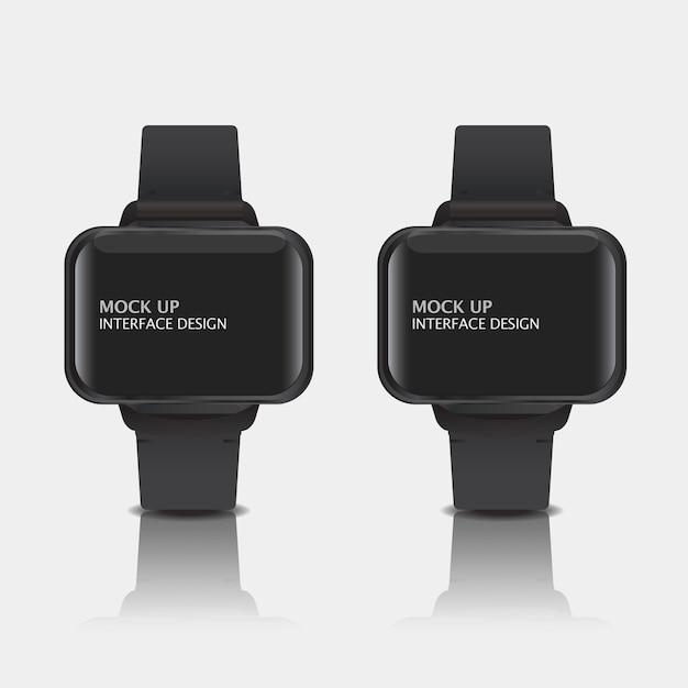 Mock up design de interface de exibição digital para relógio inteligente Psd grátis
