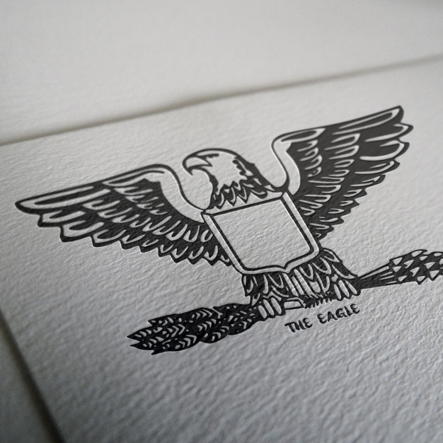Mock up design de logotipo Psd grátis