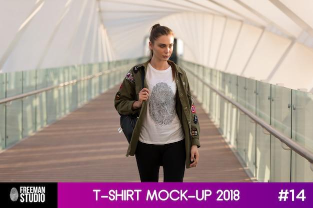 Mock-up do t-shirt Psd Premium