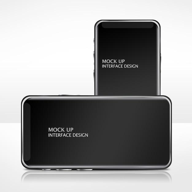 Mock up modelo de interface de telefone móvel Psd grátis