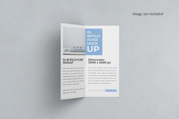 Mockup bi-fold dl flyer aberto Psd Premium