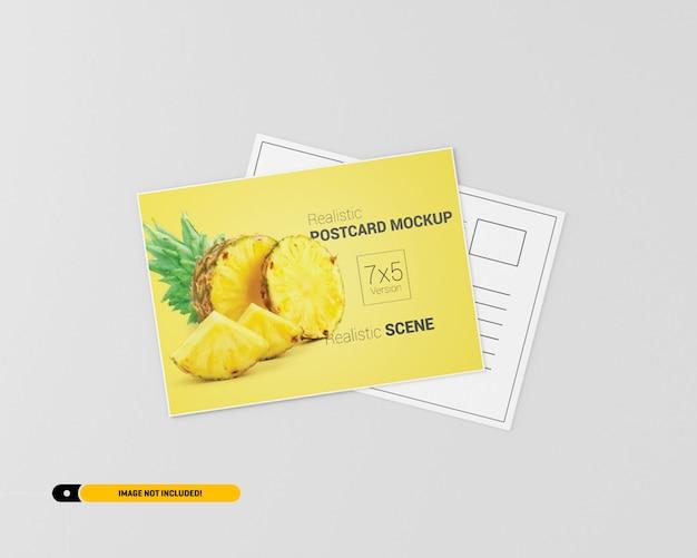 Mockup de cartão postal Psd Premium