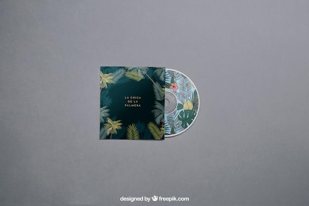 Mockup de cd moderno Psd grátis