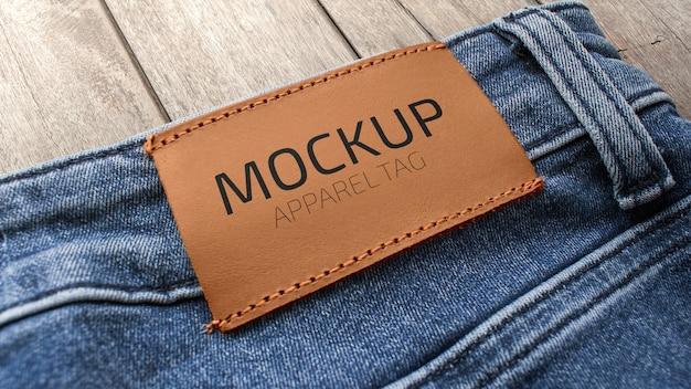 Mockup de etiqueta de vestuário Psd Premium