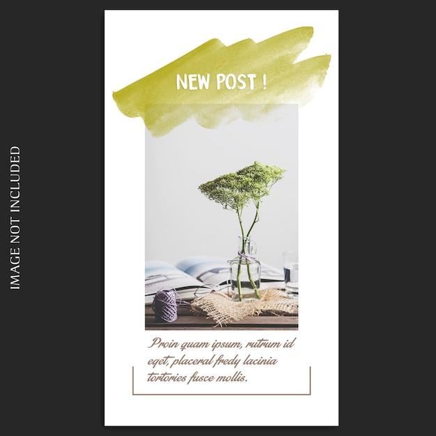 Mockup de foto mínima e modelo de história do instagram Psd Premium