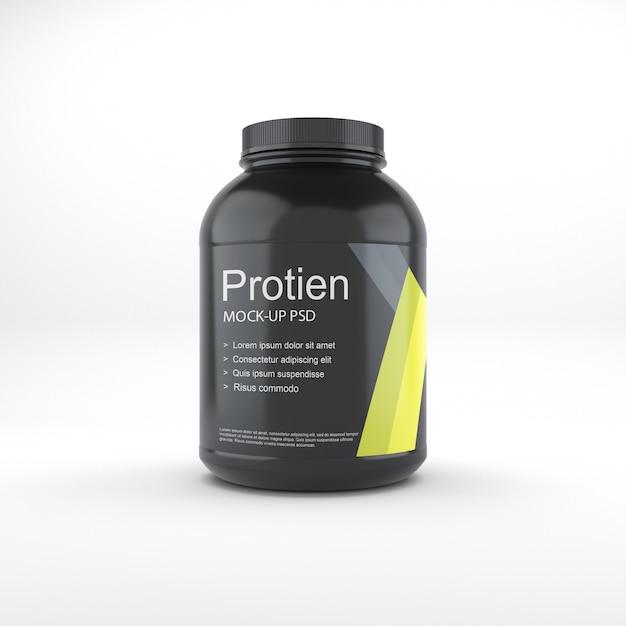 Mockup do frasco de proteína Psd Premium