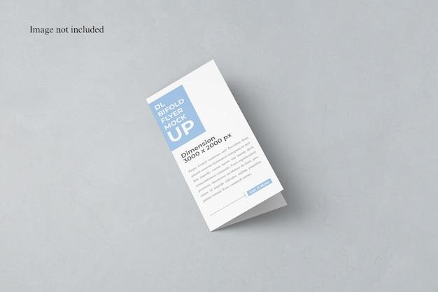 Mockup fechado bi-fold dl flyer Psd Premium