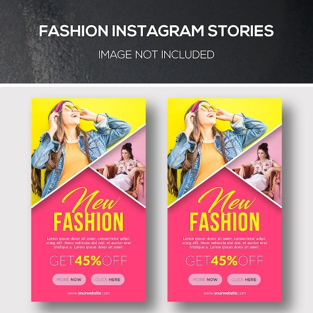 Moda instagram histórias Psd Premium