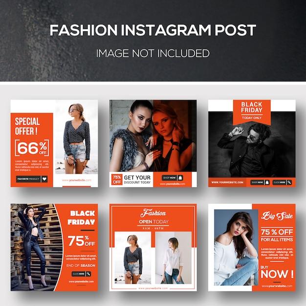 Moda instagram post ou modelo de banner Psd Premium