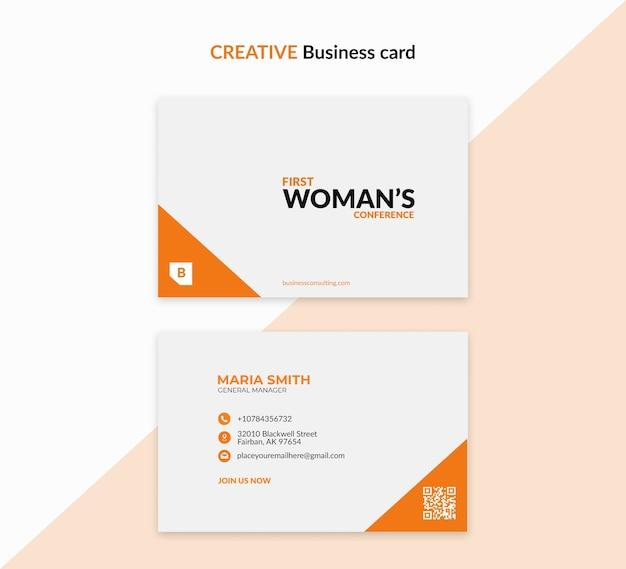 Modelo criativo para mulher de negócios Psd grátis