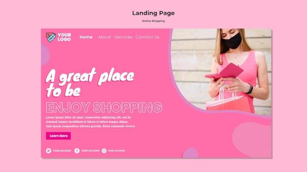 Modelo da web de compras online Psd grátis
