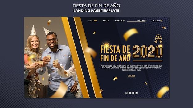 Modelo da web fiesta de fin de ano Psd grátis