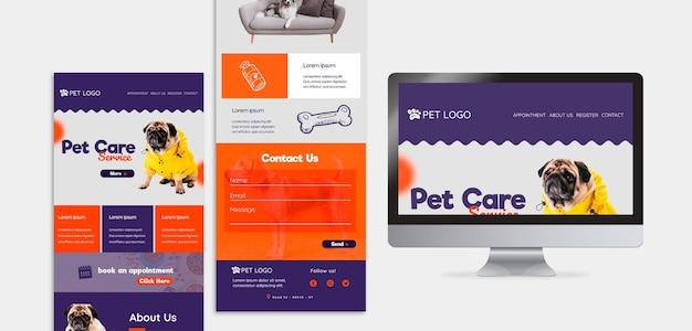 Modelo da web para cuidados com animais de estimação Psd grátis