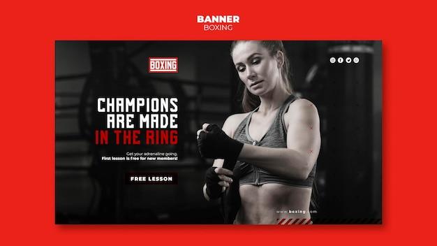 Modelo de anúncio banner boxing Psd grátis