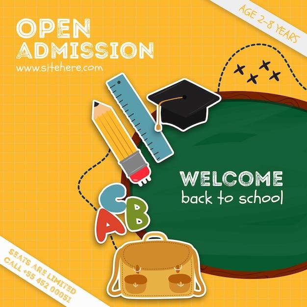 Modelo de anúncio de admissão aberta colorida Psd grátis
