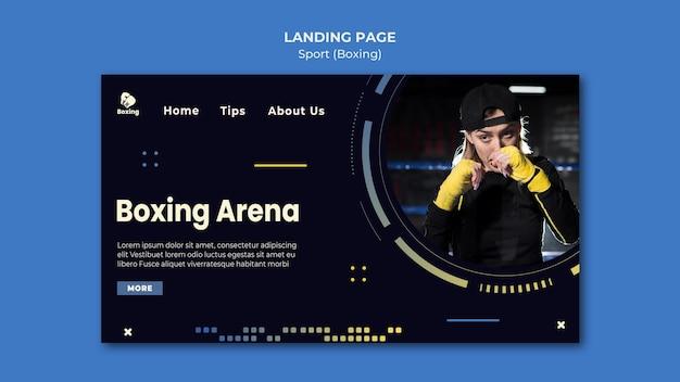 Modelo de anúncio de boxe na página de destino Psd grátis