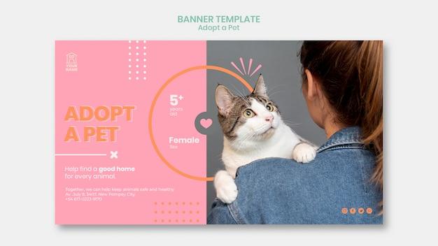 Modelo de banner adotar animal de estimação Psd grátis
