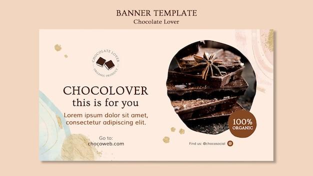 Modelo de banner amante de chocolate Psd grátis
