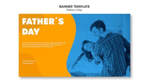 Modelo de banner colorido dia dos pais Psd grátis