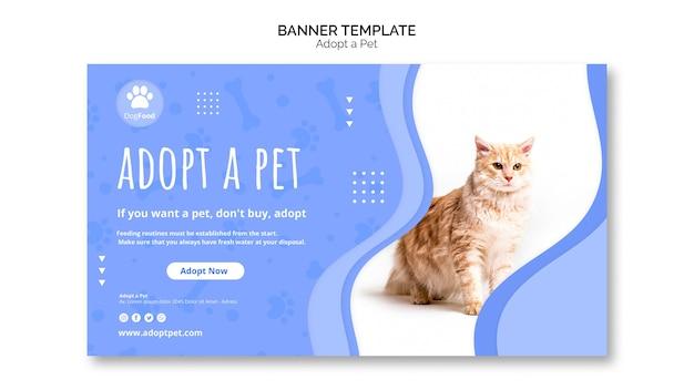 Modelo de banner com adotar animal de estimação Psd grátis
